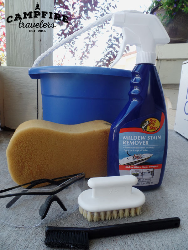 Nervously I followed started spraying and waiting. Then as I began to wipe with the sponge all we could say was WOW!! Over and over. WOW!! & The BEST way to clean your pop-upu0027s canvas u2014 Campfire Travelers