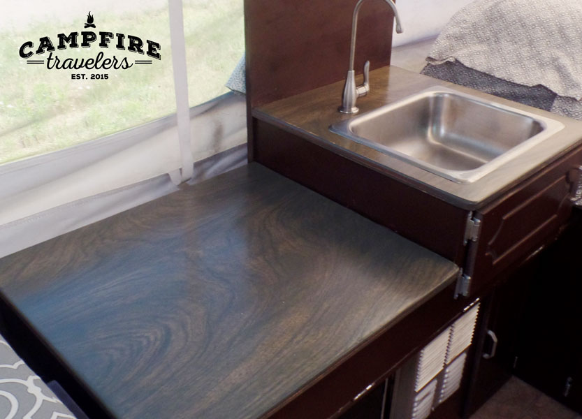 Replacing counters in our RV — Campfire Travelers