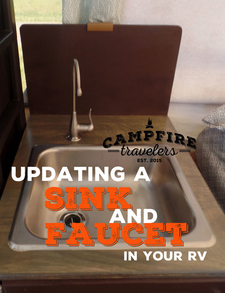 The sink and faucet — Campfire Travelers