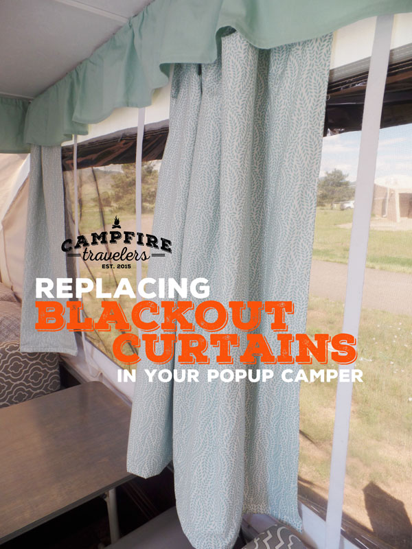Replacing Curtains In A Pop Up Camper