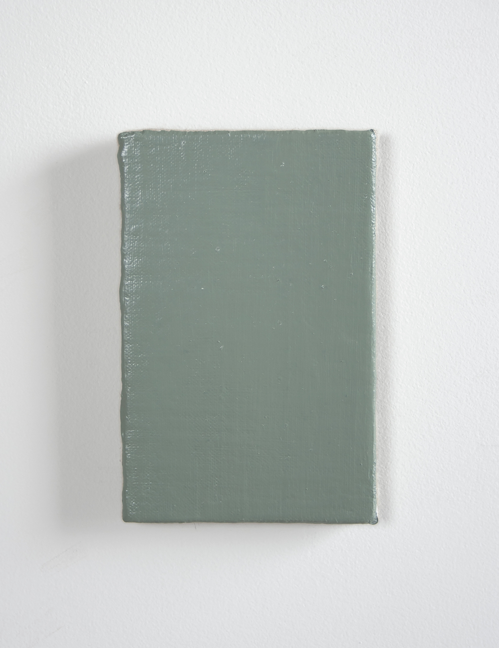 """mister green , 2014 oil on linen on panel,6"""" x 4"""""""