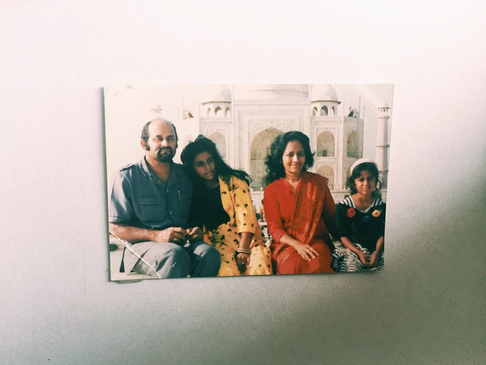 from left: my father, sister, mums, and I.