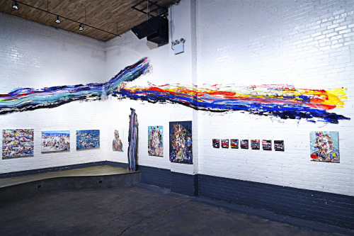 Installation View - Joint Exhibition Chrissy Angliker & Meguru Yamaguchi at 94 KINFOLK, Brooklyn, NY. 2014
