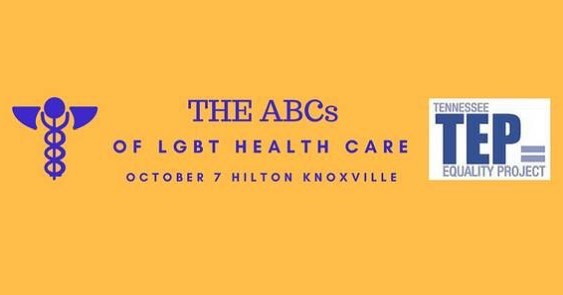 Excited to be out supporting @tnequality at the ABCs of LGBT Healthcare Conference in Knoxville today! #tnequality #tep #knoxrocks #lgbt #lgbthealth
