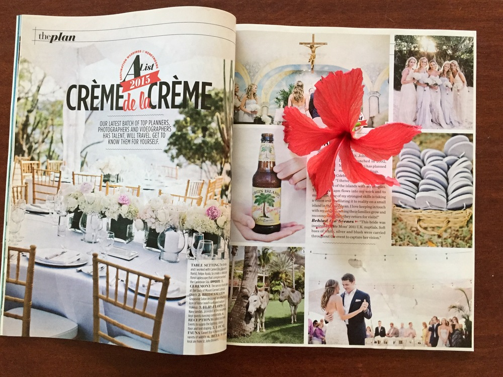 Tommy and Lauren in destination wedding and honeymoon magazine