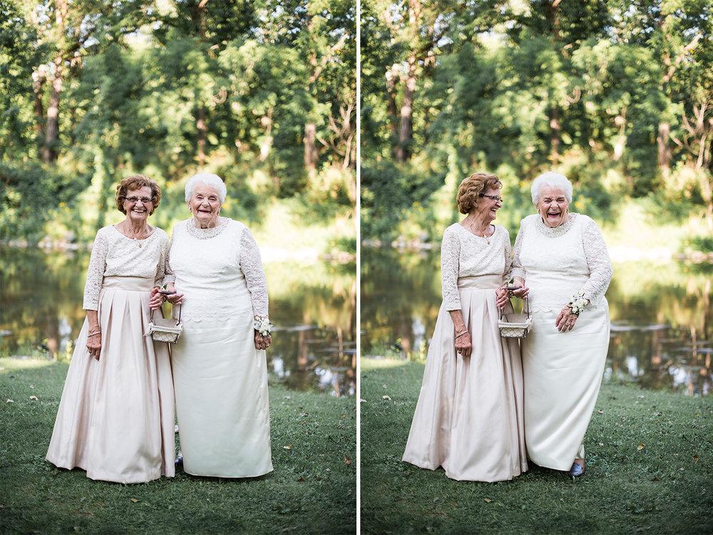 Grandma Flower girls at Obriens in Buffalo NY