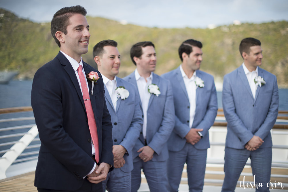 groom-waiting-for-bride-to-walk-down-the-aisle-in-st-barts