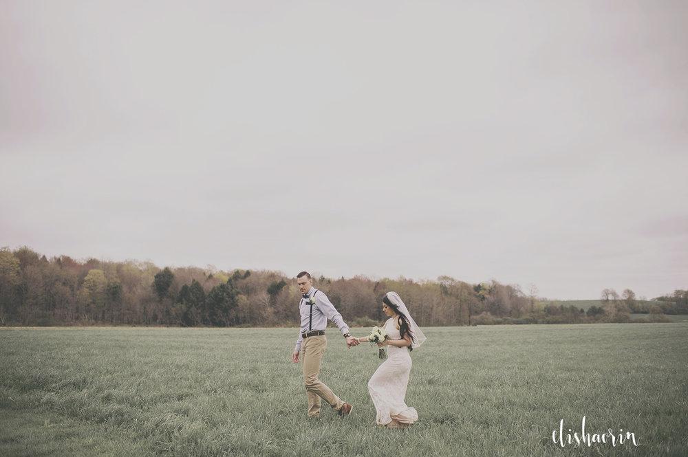 bride-and-groom-walking-in-field