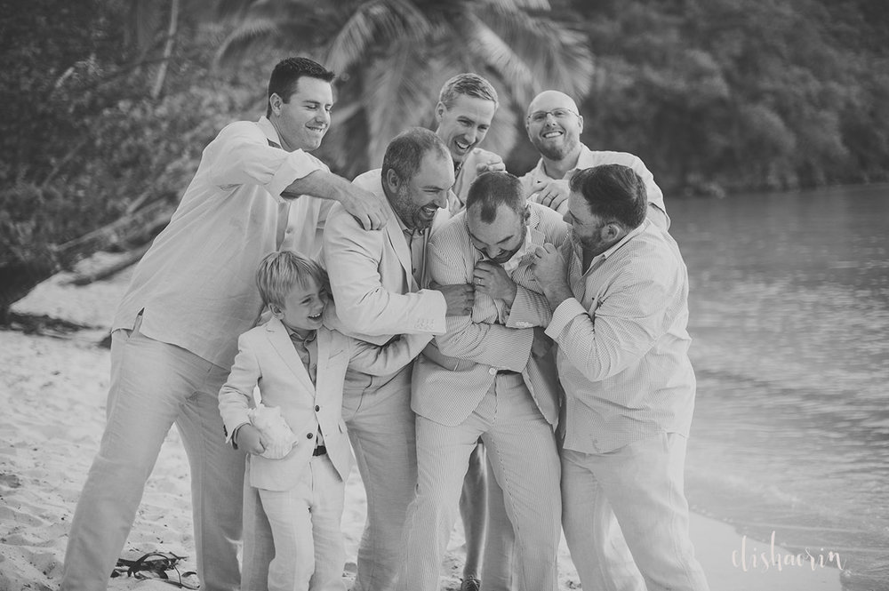groomsmen-getting-groom-excited-taken-in-st-john-by-elisha-orin-photography