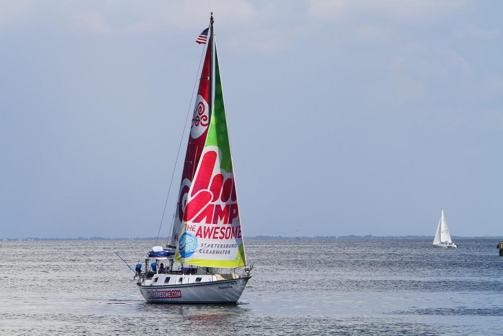 Sailboat Advertising Sailing Billboard