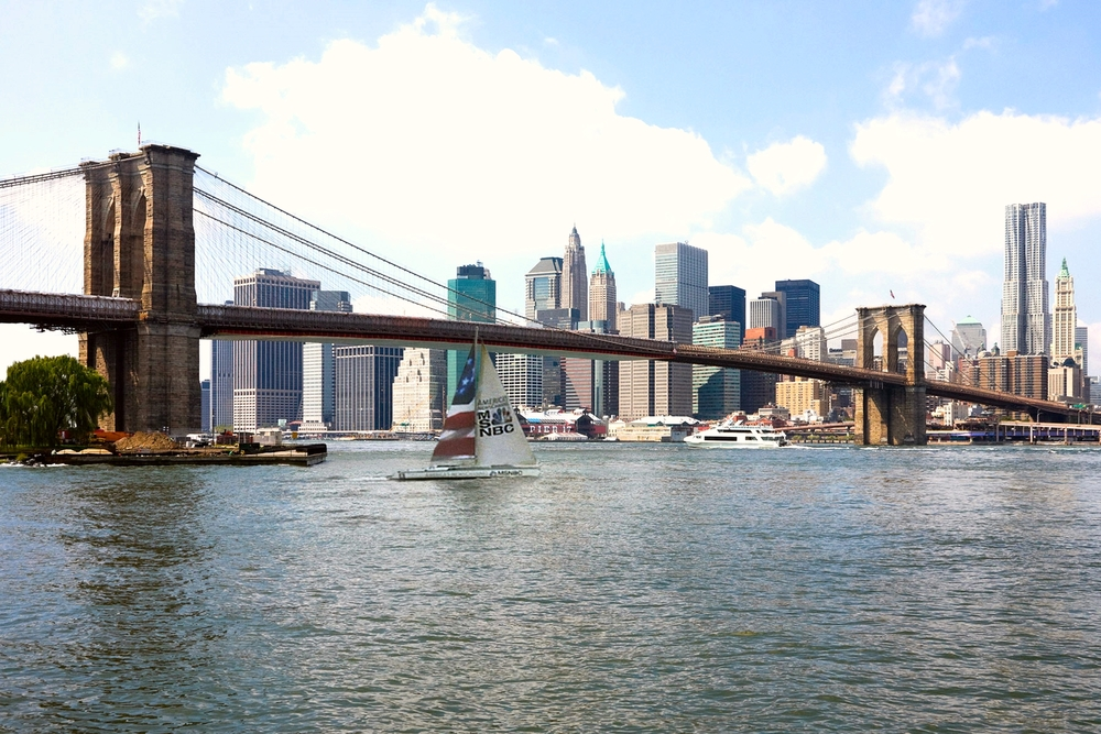 Sailing Billboard in NYC