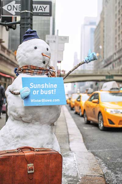 Winter advertising ideas - snow sculpture ads
