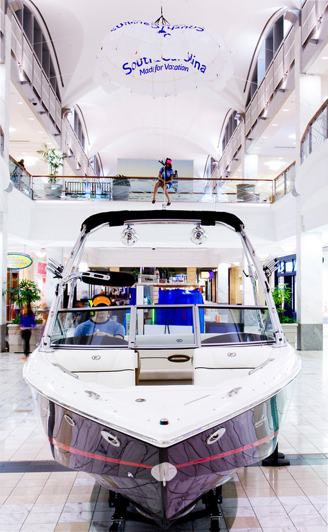 Boat placement or car display in mall