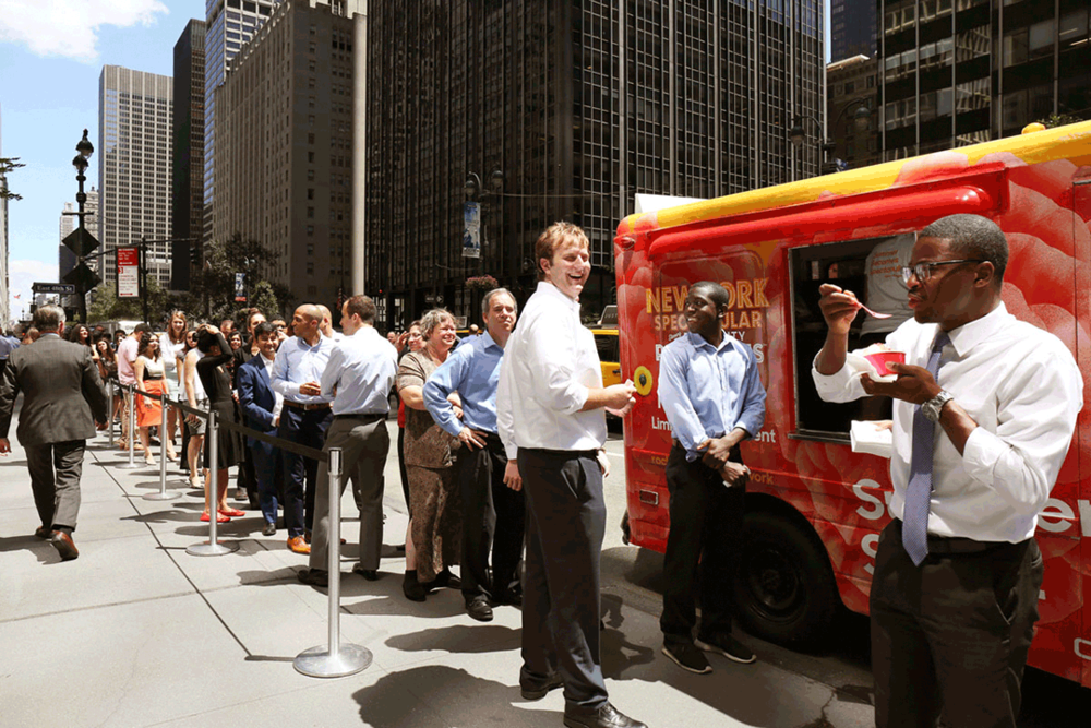 Ice cream truck marketing event