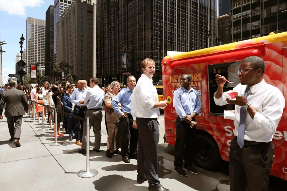 Ice cream truck marketing event