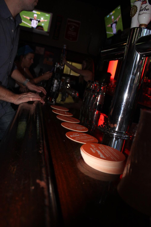 bar coaster advertising