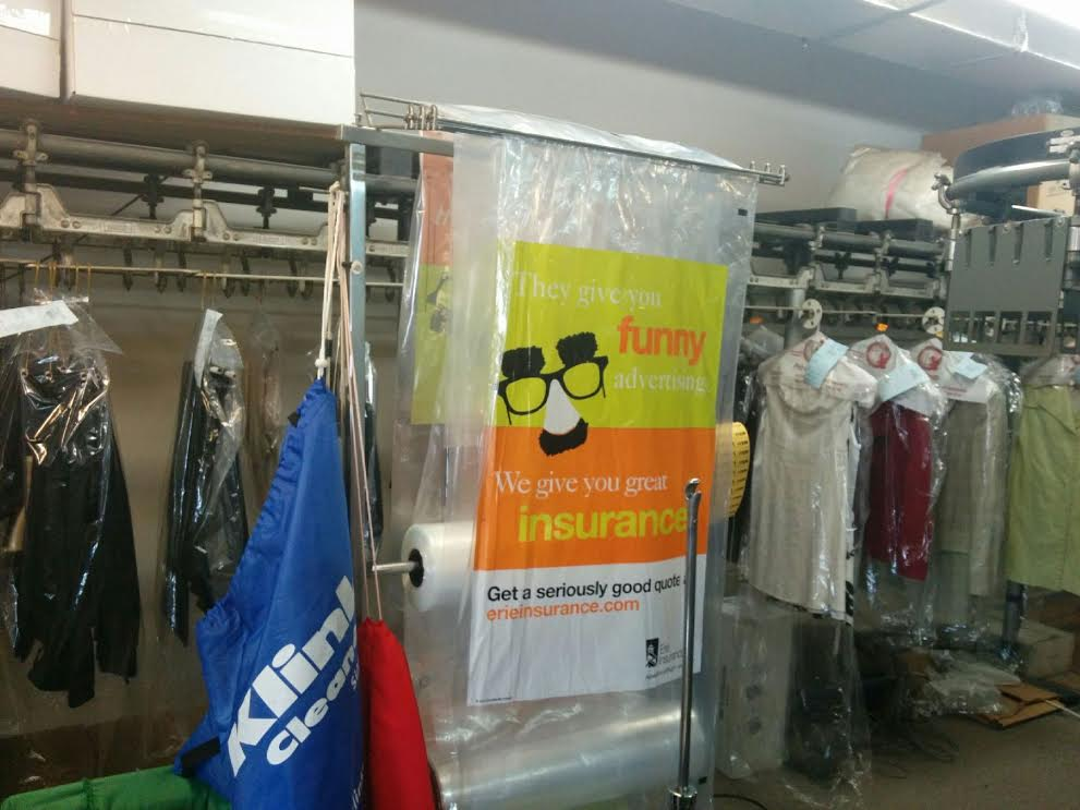 WE PRINT ON DRY CLEANER BAGS FOR ADVERTISING