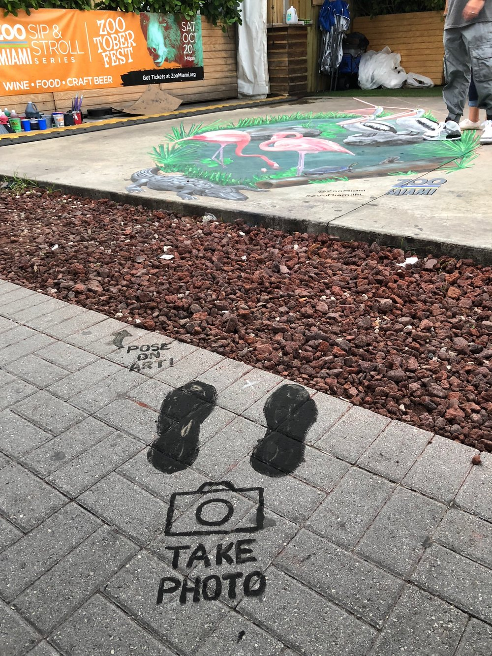 3d chalk art is best viewed and photographed from a single point!
