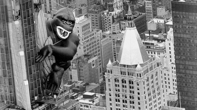 Inflatable King Kong on the Empire State Building. (Credit: Harry Hamburg/NY Daily News Archive via Getty Images)