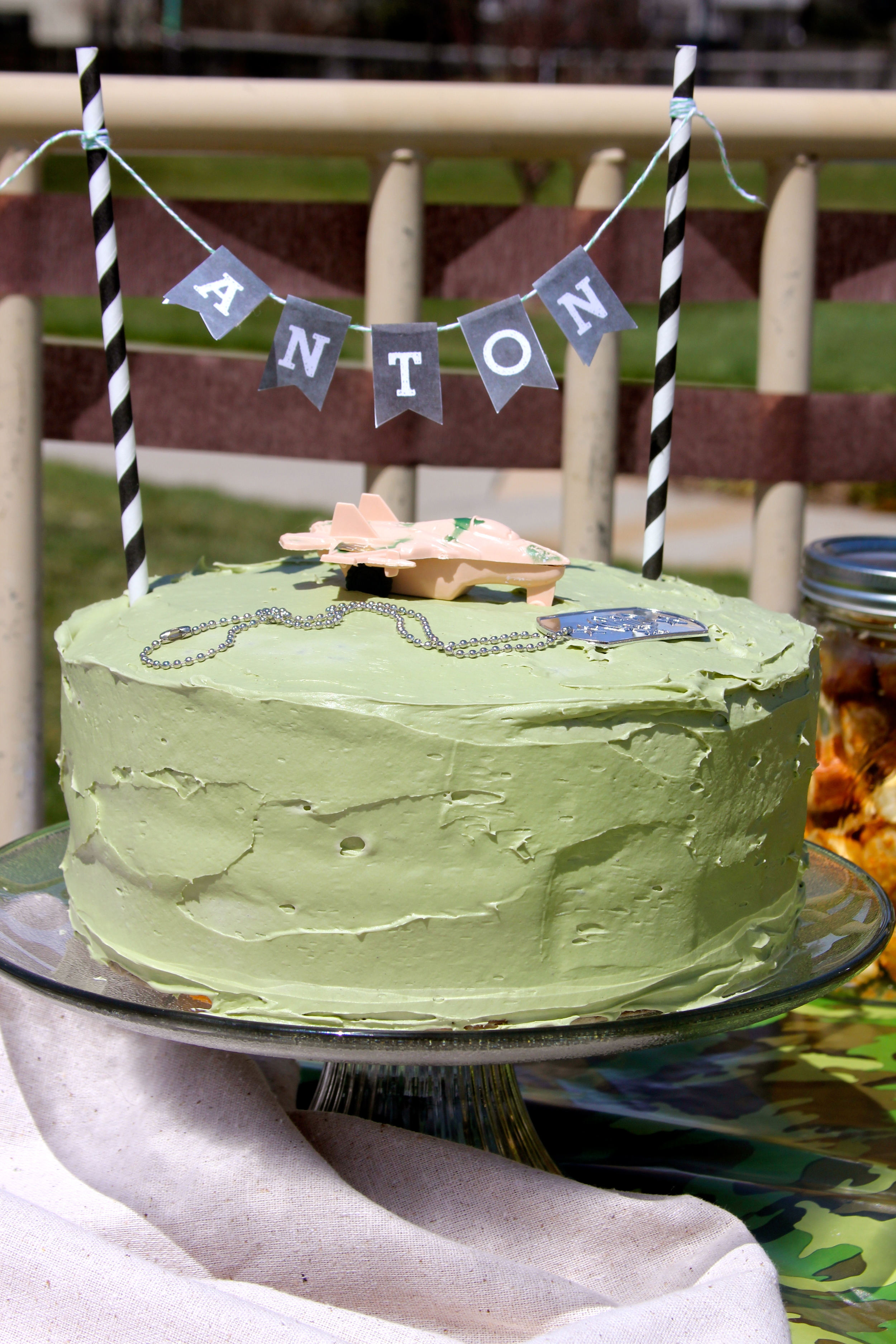Making A Camouflage Birthday Cake Tutorial Teresa Swanstrom Anderson