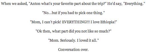 I liked everything