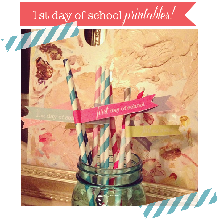 first day of school printables 2