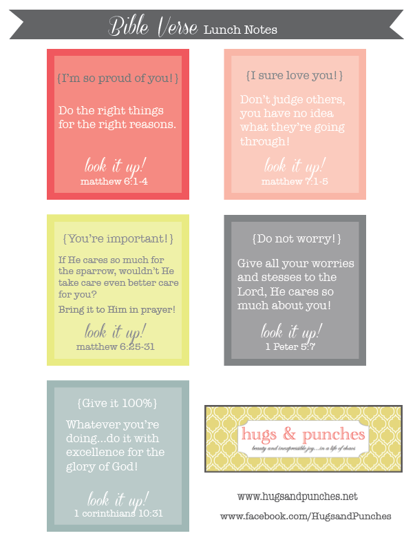 printables-Bible Verse lunch notes