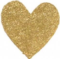 gold glitter heart