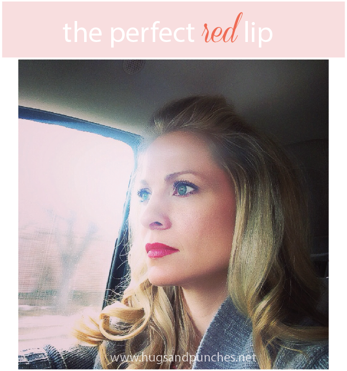 the perfect red lip