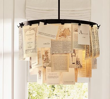 book page chandelier 4
