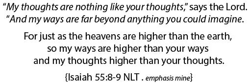 Isaiah 55.8-9