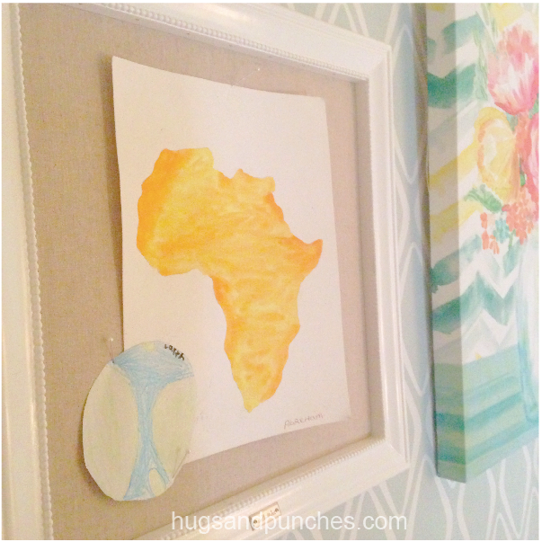 africa print and globe - kid art