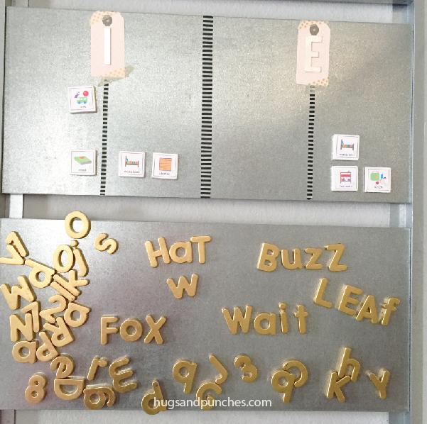gold letter magnets 1