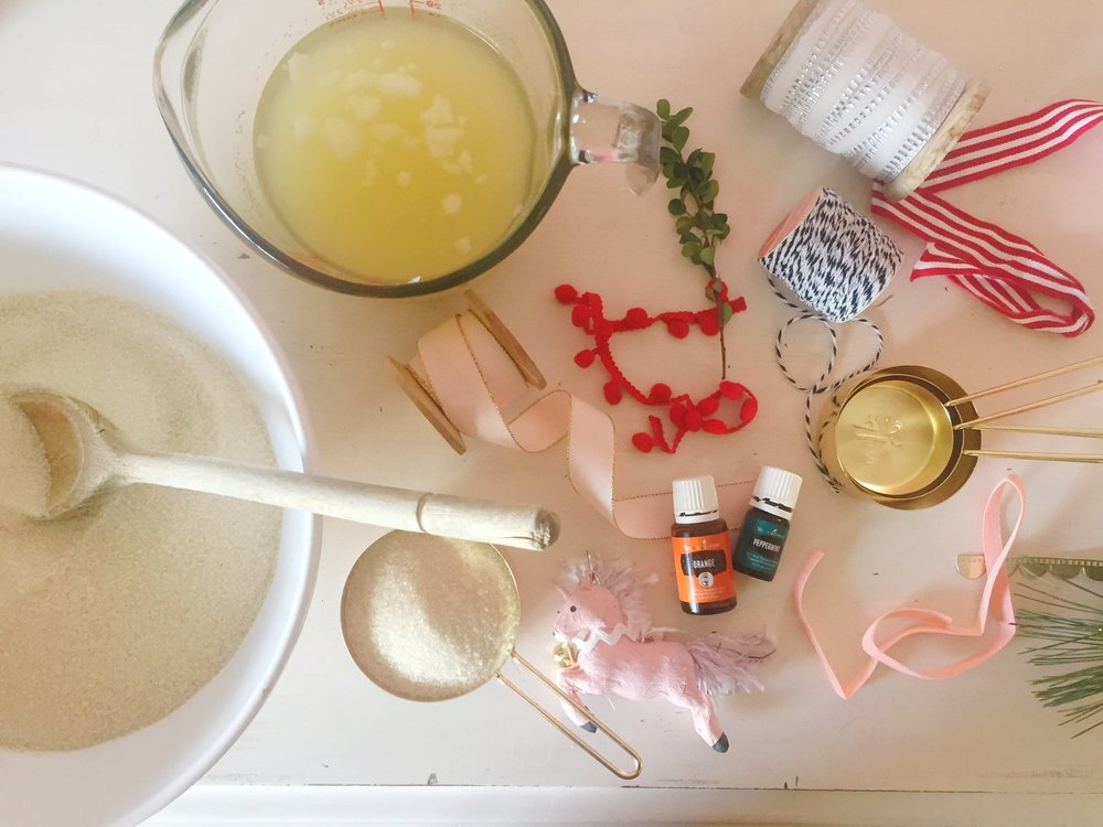 Sugar Scrub with Essential Oils