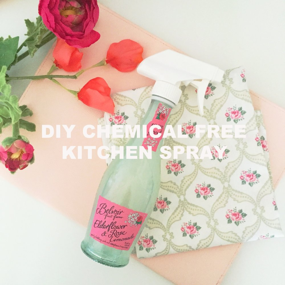DIY Chemical free kitchen spray