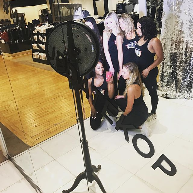 At the King Of Prussia Mall having some fun for the #makeupdate event hosted by @Bloomingdales #makeupdatekop #bloomingdales if your not here you should be... lots of amazing giveaways