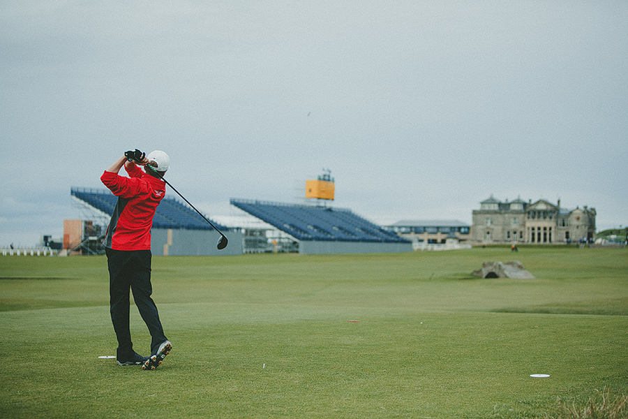 Red Deer Photographer Scotland Travels junior golf at the open
