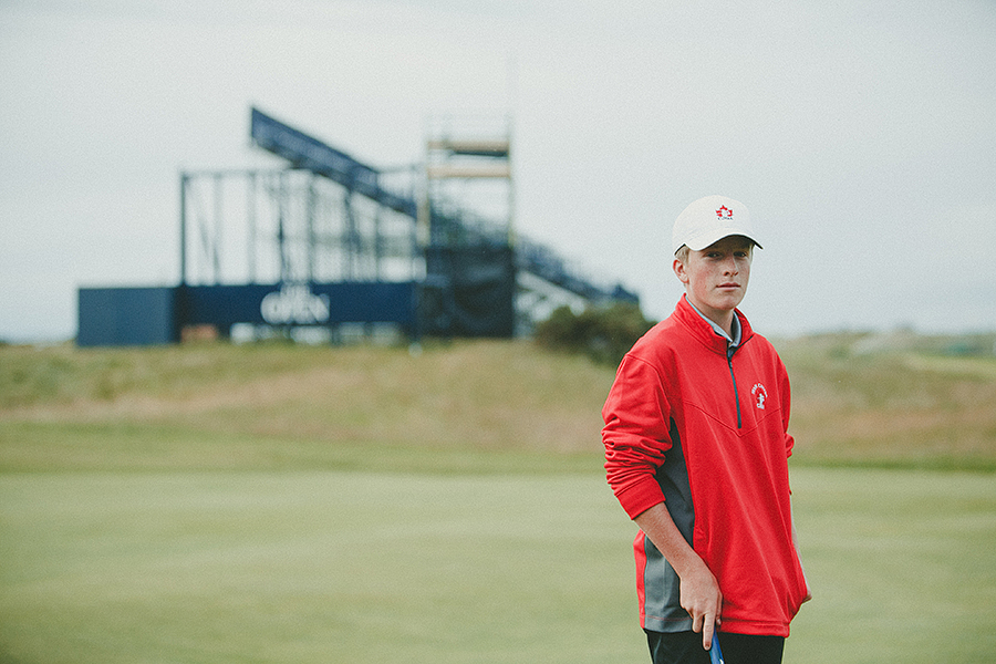 Red Deer Photographer Scotland Travels junior golf
