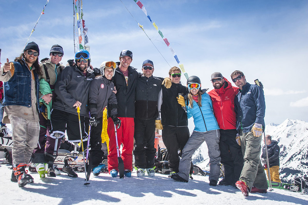 Hiking the Highlands Bowl with adaptive athletes in Aspen, Colorado