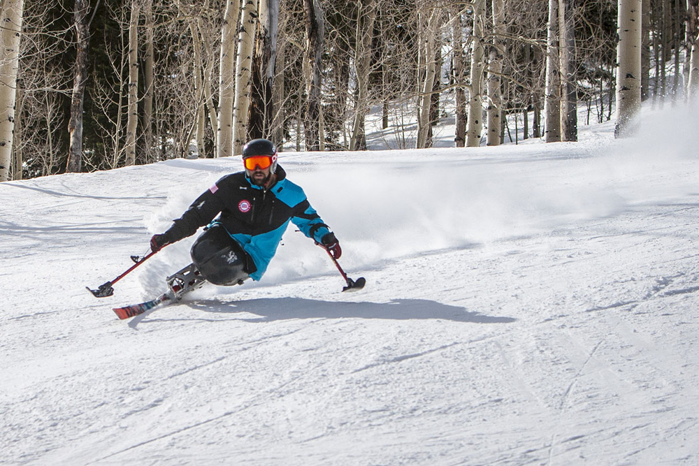 Josh Elliot taking laps on Buttermilk in Aspen, Colorado