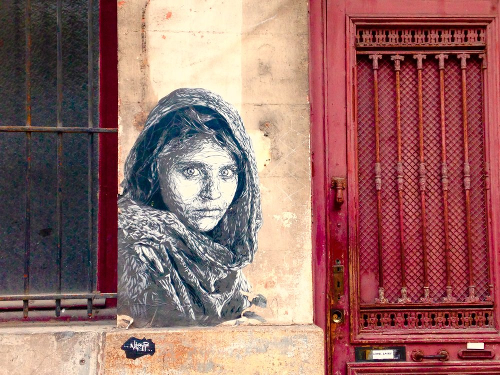 Graffiti by the Red Door