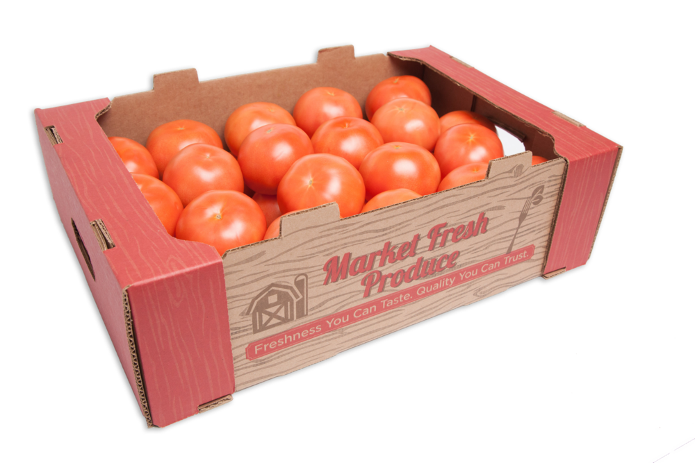 Round Tomatoes - We offer a variety of rounds tomatoes for all your consumer needs! With different pack sizes and bulk offerings, we have it all! Our rounds tomatoes come from the best growers and are available year around. We have 25 pound cases 2, 4 or 6 pack trays, 3 pack clamshells, and more!