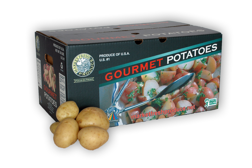 Bulk Gold Potatoes - Gold potatoes for the masses! We offer a 50-pound (C size) bulk case that is perfect for those gold potato lovers! Find some today and see how they can change your same potato routine with this creamy goodness!