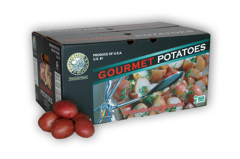 Bulk Red Potatoes - There can never be too many red potatoes available! With this 50 pound bulk case, you can provide for all your wants and desires to cook with these yummy goodies!