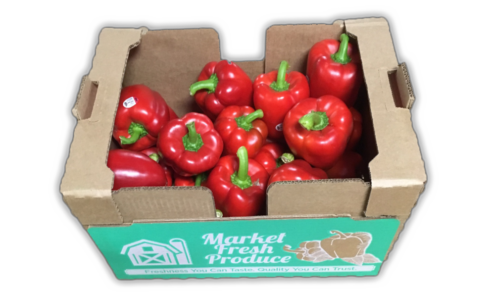 Hothouse Peppers - Peppers come in almost all colors of the rainbow! Our hothouse pepper selection offers bell peppers in a variety of colors such as red, orange, and yellow. They are available in 11 pound bulk cases, 3pk Stoplight & Rainbow pepper trays or 2 pack red/red or red/yellow trays.