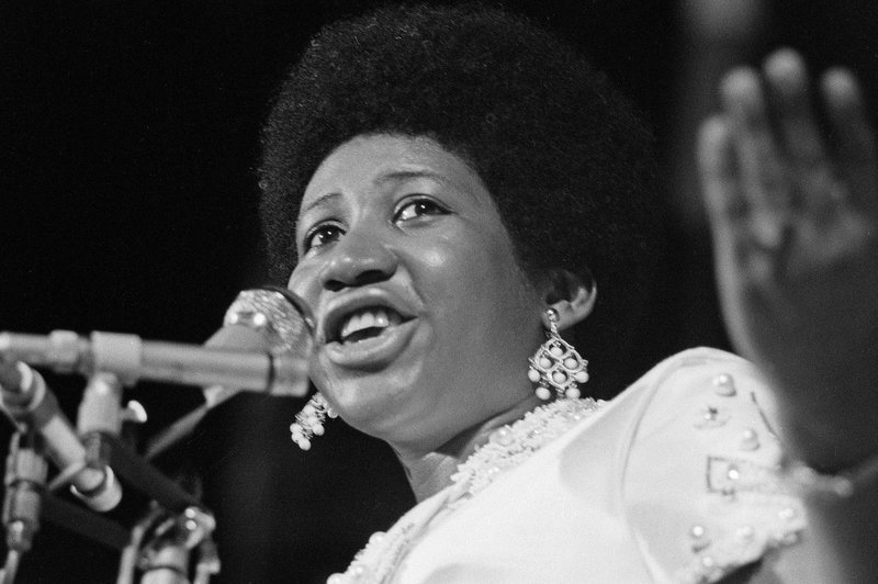 Aretha Franklin performs in Antibes, France in 1970.    INA via Getty Images