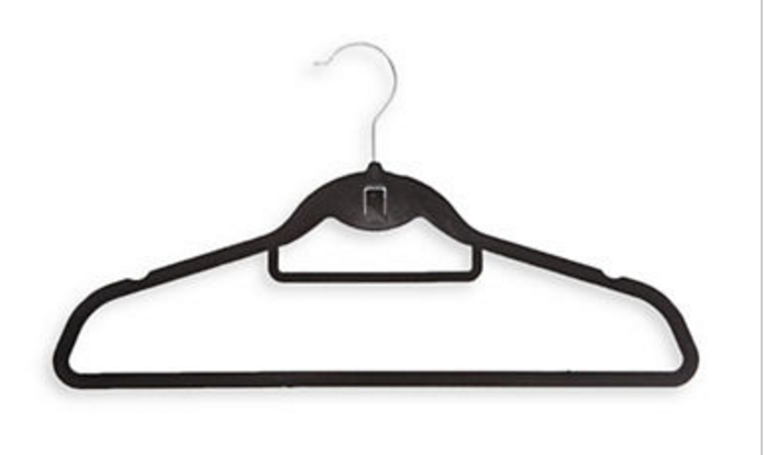 Flocked hangers