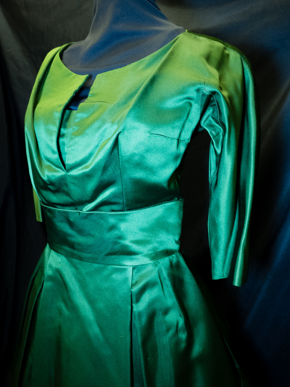 Christian Dior Green Silk