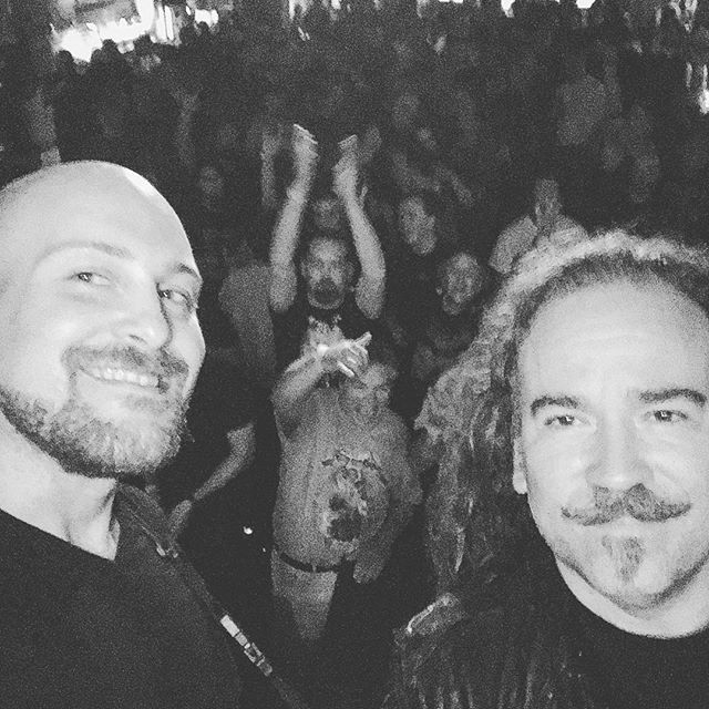 #flashback Friday! Here is a pic from the final show on our tour with Fates Warning last year. We had a great time and can't wait to release this album and come play it to you guys! - - - #fateswarning#theoriesofflighttour2017#infinitespectrum#prog#progrock#progmetal#progressiverock#progressivemetal#rock#metal#music#liveshow#throwback#flashback#🤘#Massachusetts#alston#brightonmusichall#livemusic#band#metalband#beards#blackandwhite#tour#touring#ontour