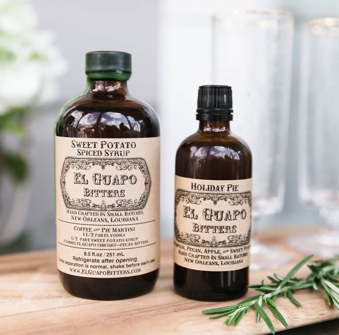 El Guapo bitters & syrups! - El Guapo Bitters makes some of my faaaavorite bitters and syrups. Everything they do is delicious, small batch, locally sourced, and handmade with love from New Orleans, Louisiana.